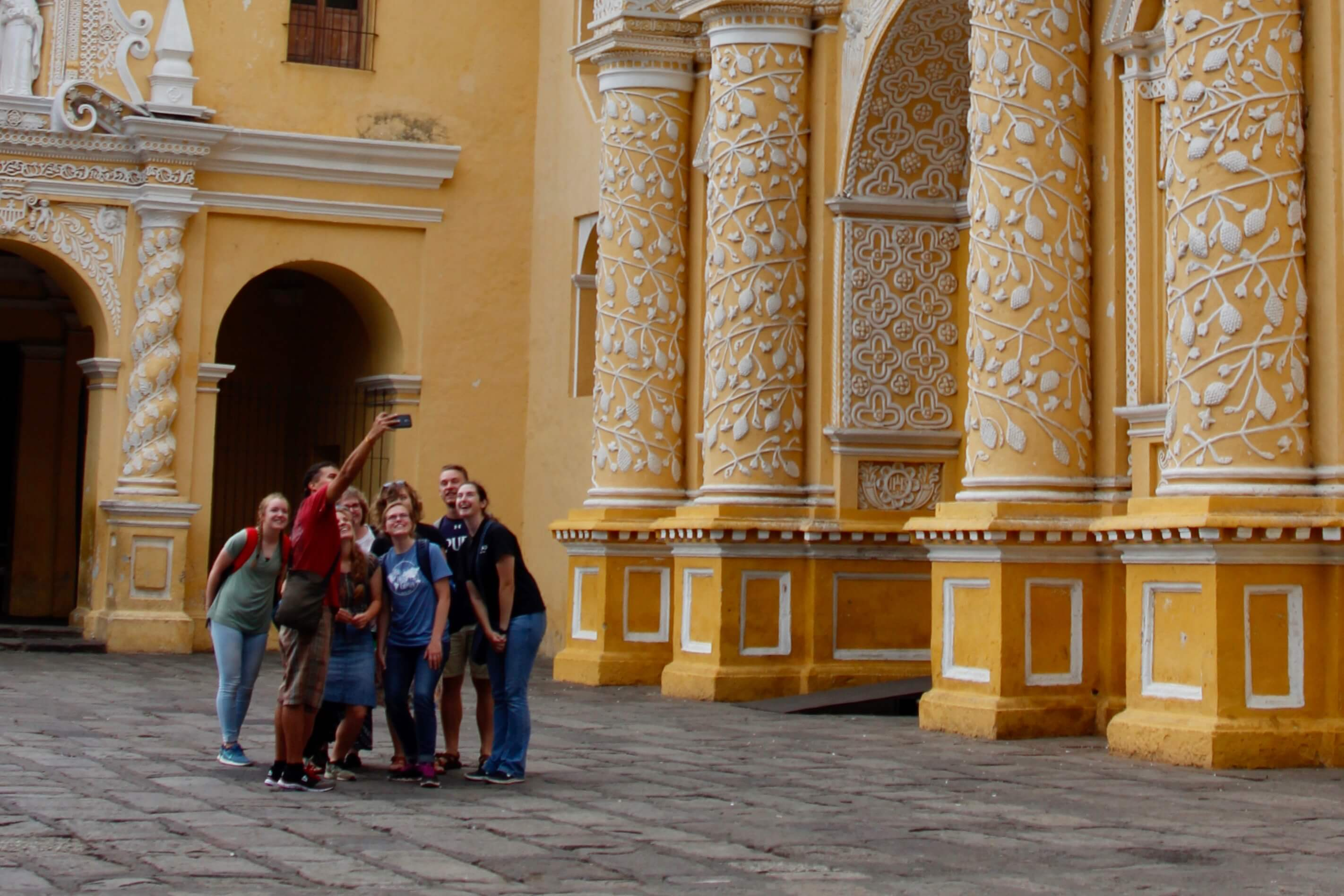 Students on a study abroad trip.