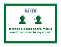 Comfort Level Dorm Signage Green