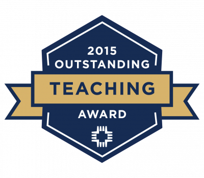 2015 Outstanding Teacher of the Year badge