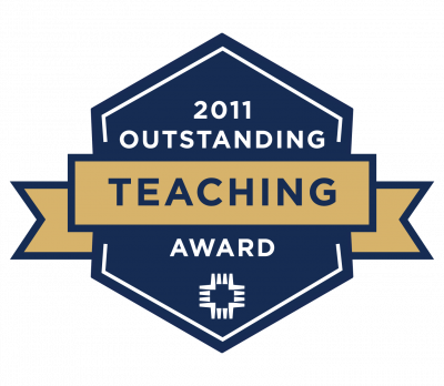 2011 Outstanding Teacher of the Year badge