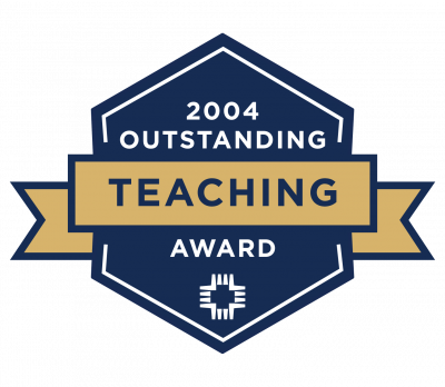 2004 Outstanding Teacher of the Year badge