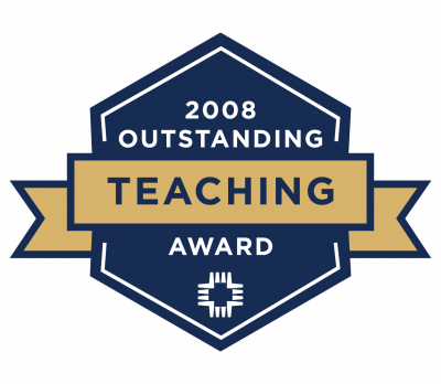 2008 Outstanding Teacher of the Year badge